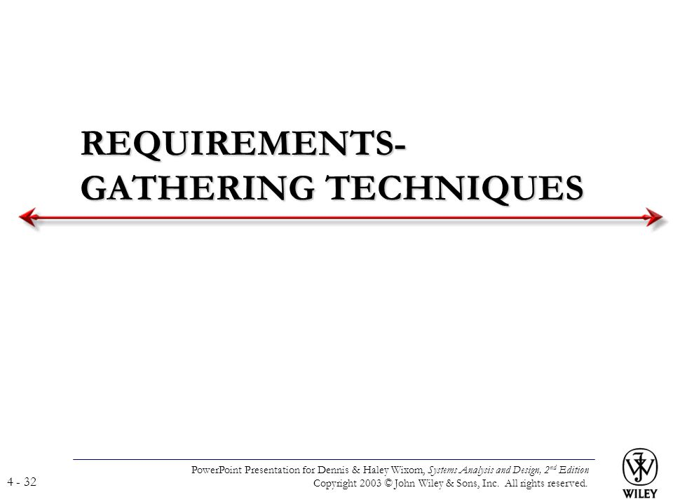 REQUIREMENTS-GATHERING TECHNIQUES