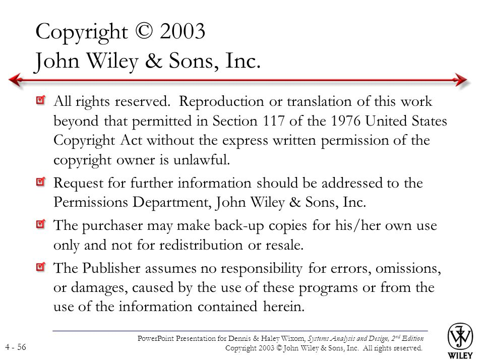 Copyright © 2003 John Wiley & Sons, Inc.