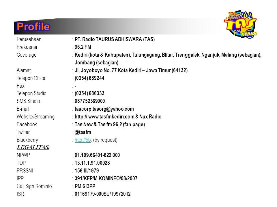 Profile Perusahaan : PT. Radio TAURUS ADHISWARA (TAS)