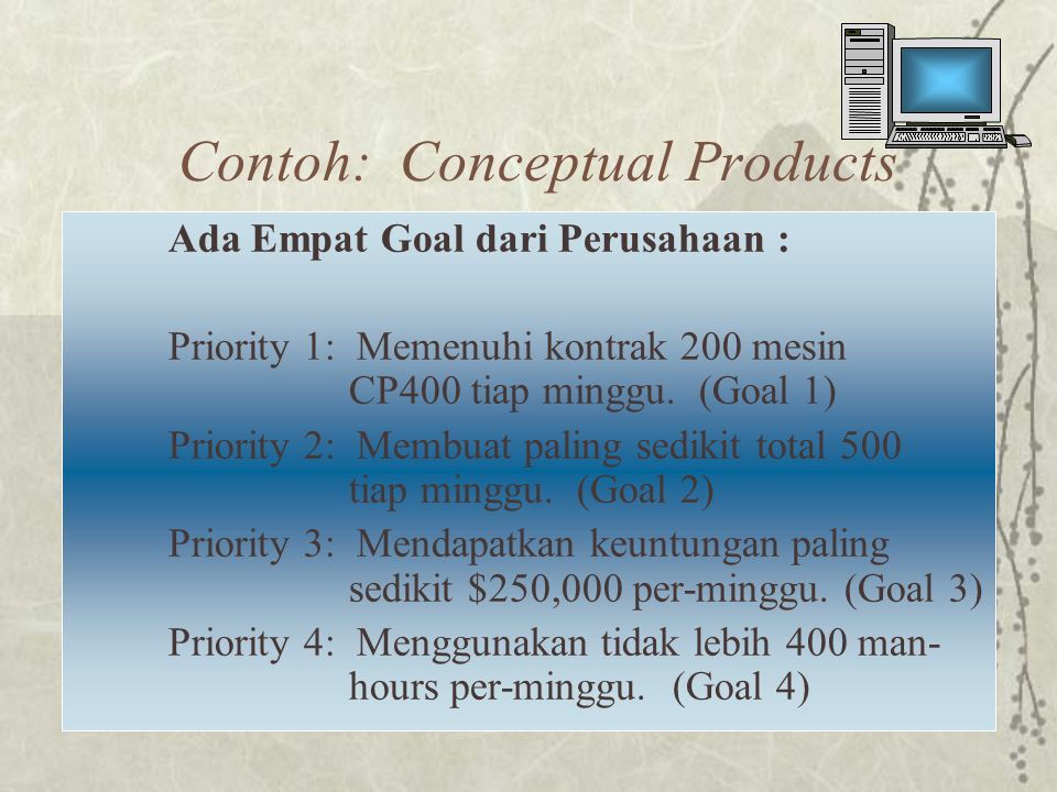 Contoh: Conceptual Products