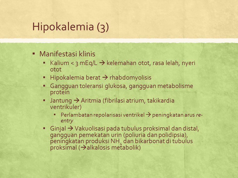 Hipokalemia (3) Manifestasi klinis