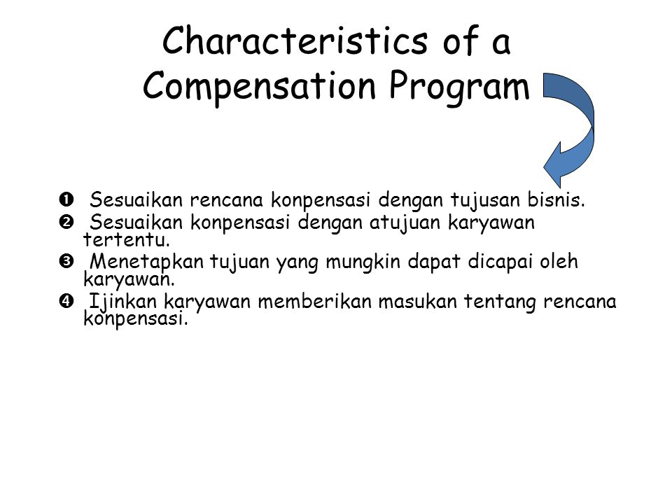 Characteristics of a Compensation Program