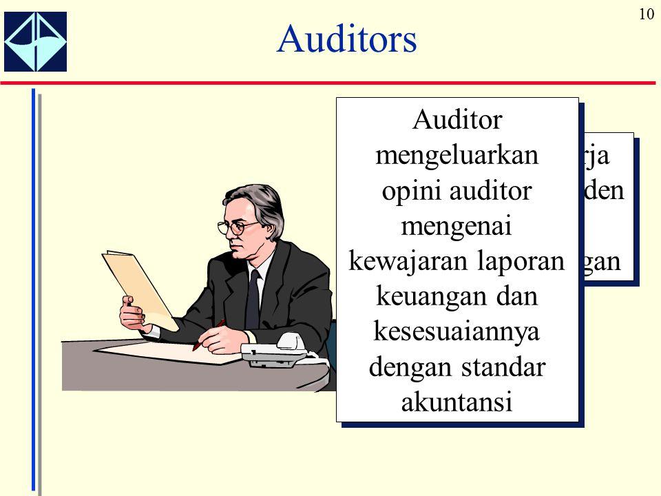 Auditor bekerja secara independen memeriksa laporan keuangan