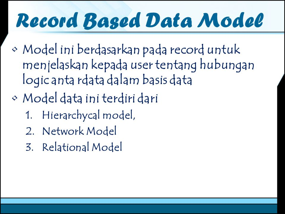Record Based Data Model