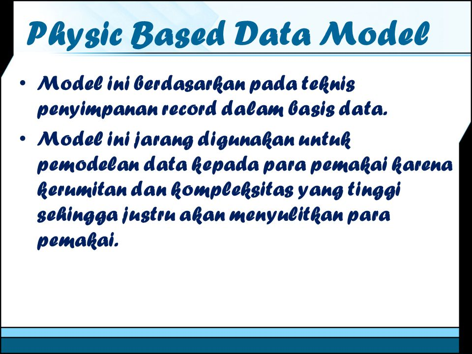 Physic Based Data Model
