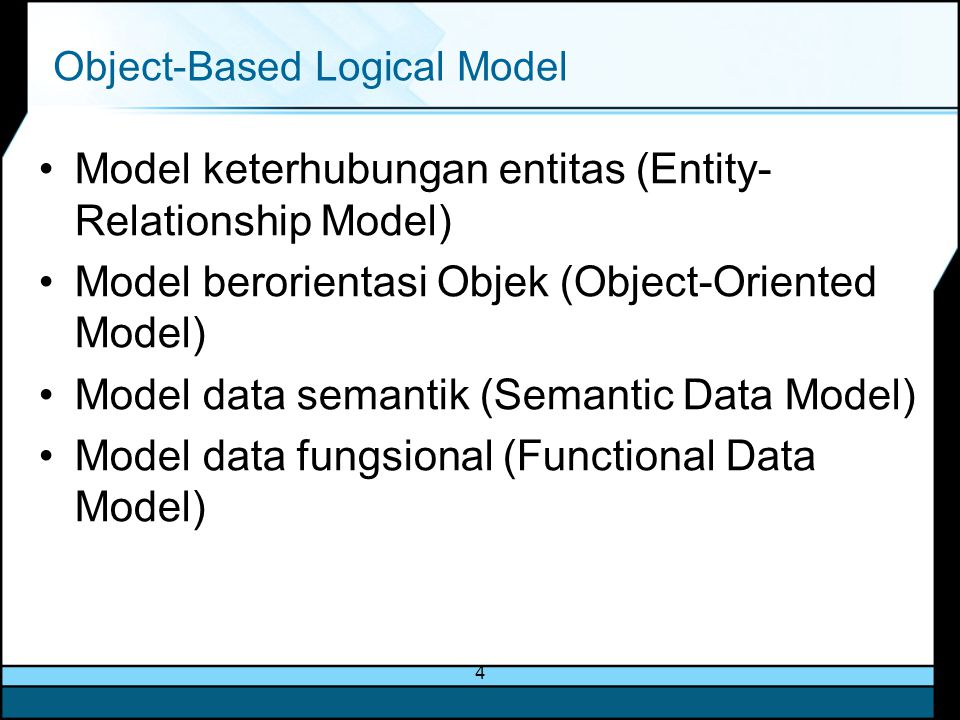 Object-Based Logical Model