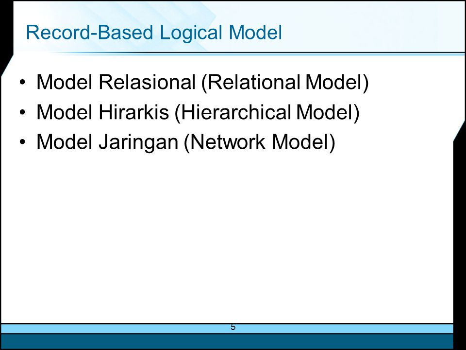 Record-Based Logical Model