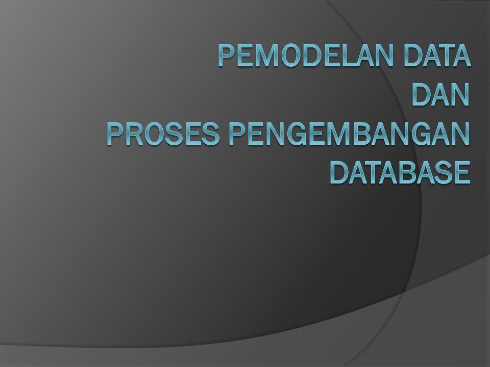 Pemodelan Data dan Proses Pengembangan Database