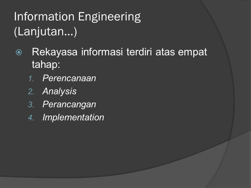 Information Engineering (Lanjutan…)