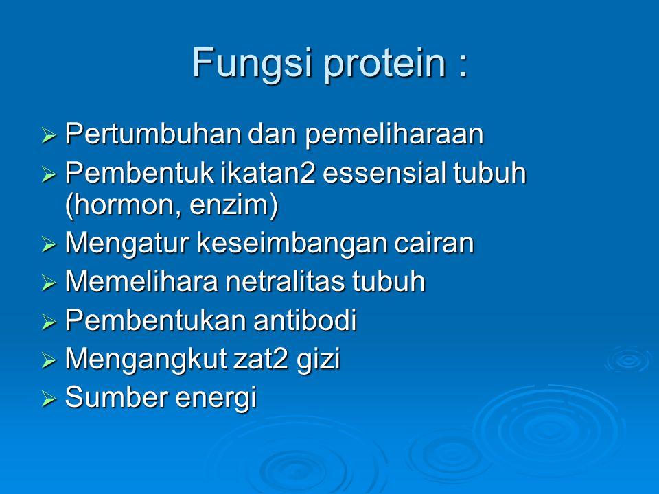 Fungsi protein : Pertumbuhan dan pemeliharaan