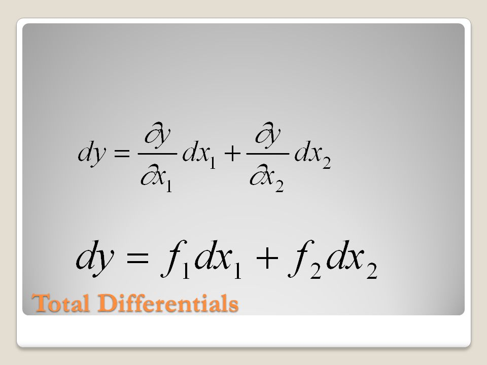Total Differentials