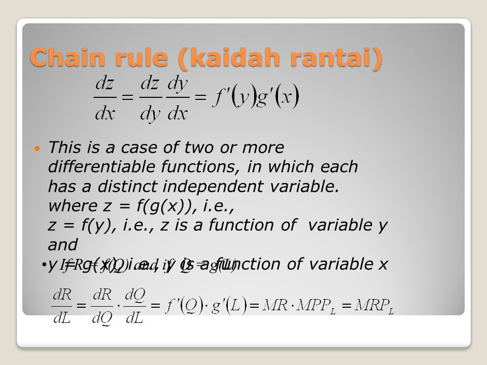 Chain rule (kaidah rantai)