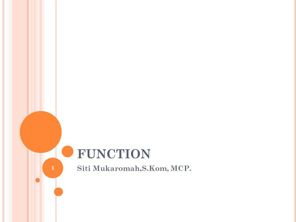 Siti Mukaromah,S.Kom, MCP.