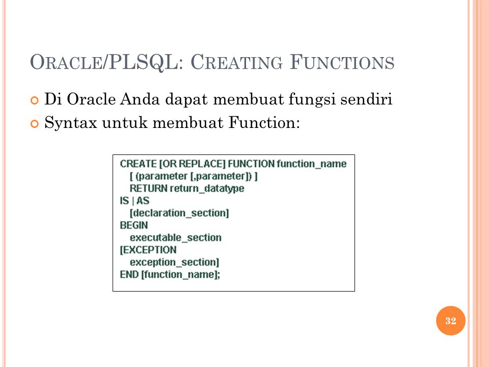 Oracle/PLSQL: Creating Functions
