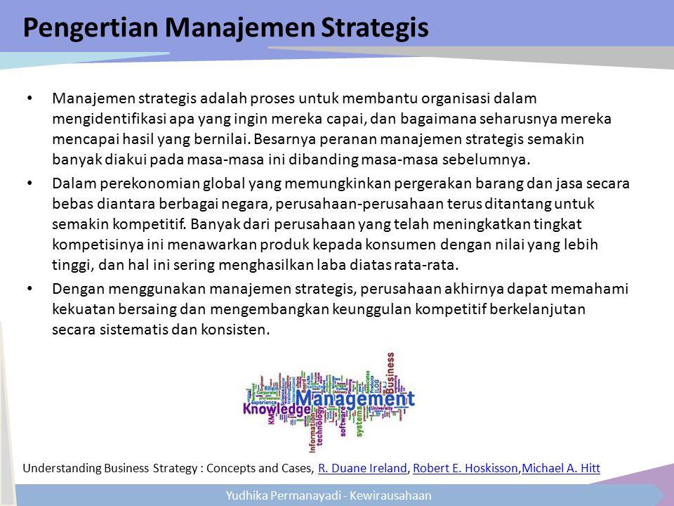 Pengertian Manajemen Strategis