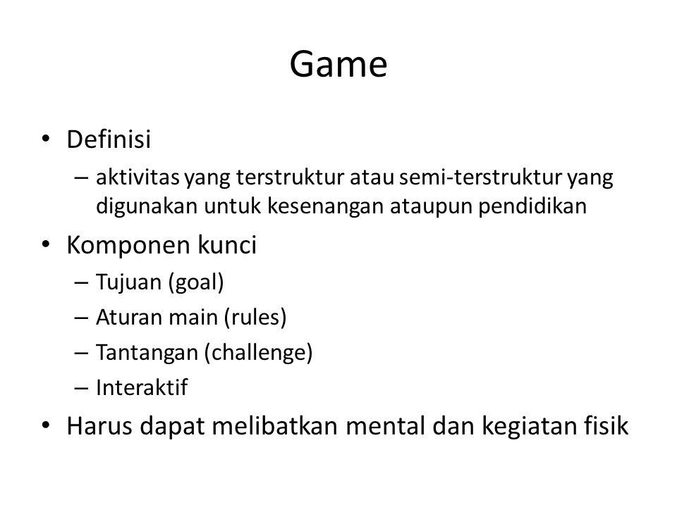 Game Definisi Komponen kunci