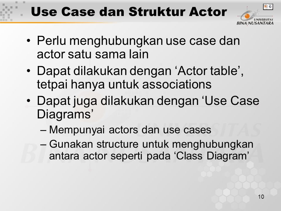 Use Case dan Struktur Actor
