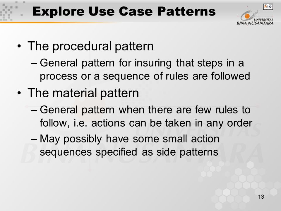 Explore Use Case Patterns