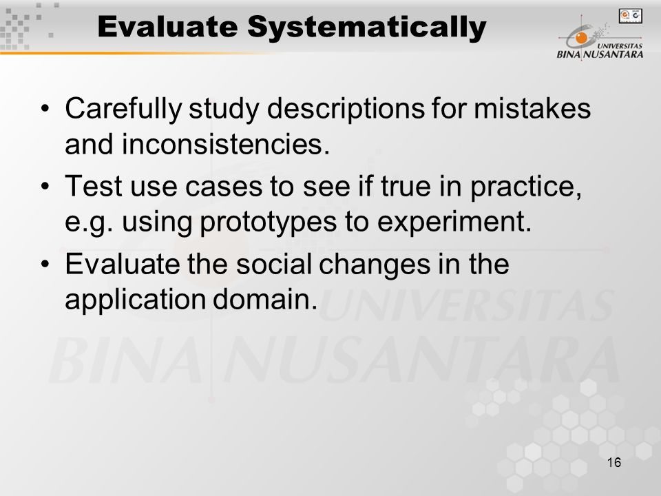 Evaluate Systematically