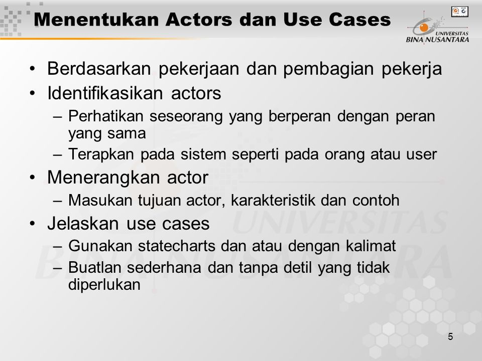 Menentukan Actors dan Use Cases
