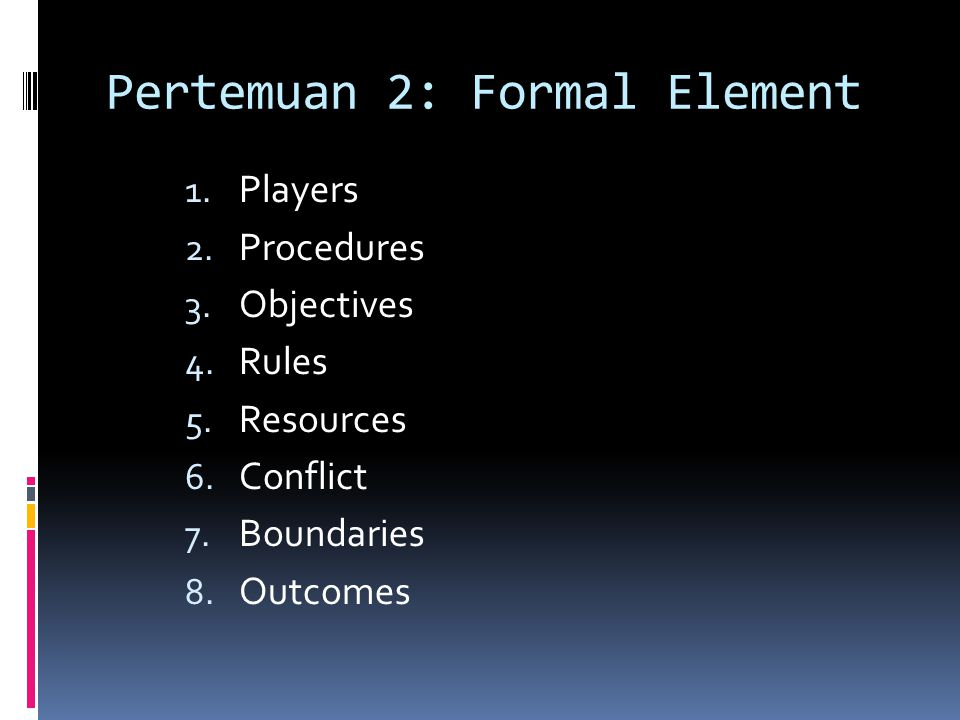 Pertemuan 2: Formal Element