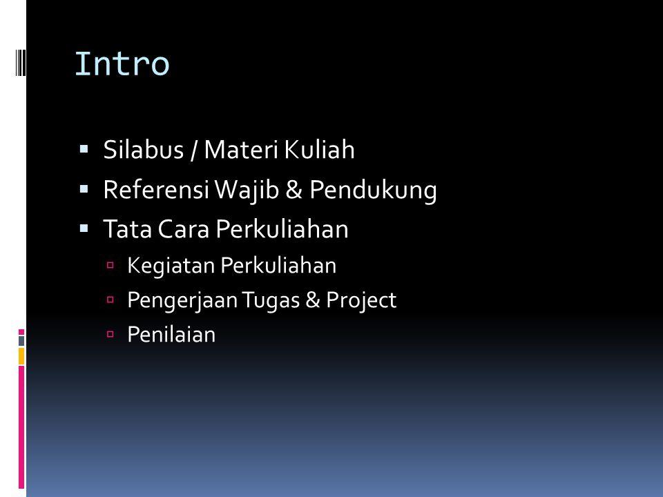 Intro Silabus / Materi Kuliah Referensi Wajib & Pendukung