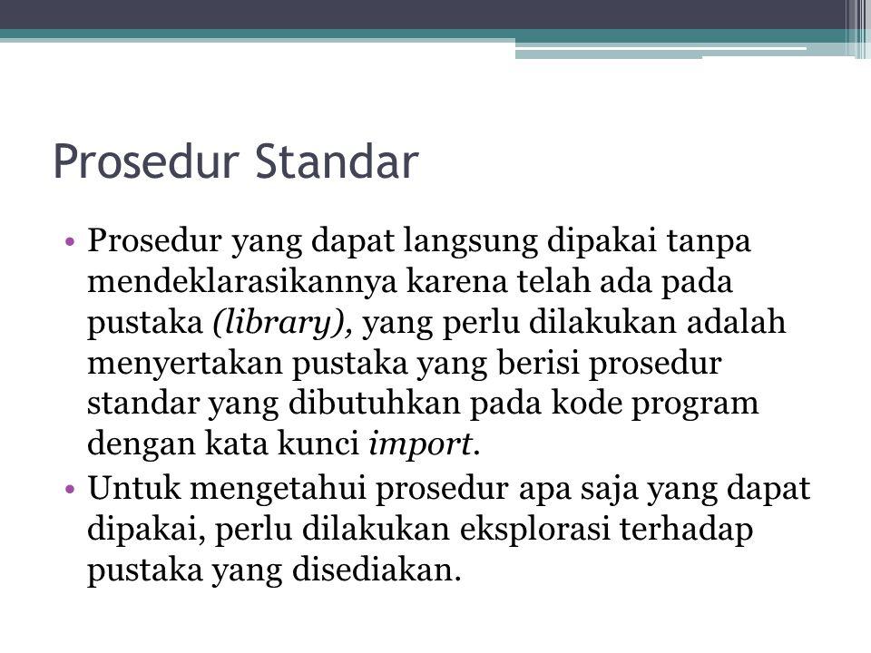 Prosedur Standar