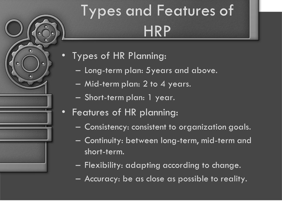 Types and Features of HRP