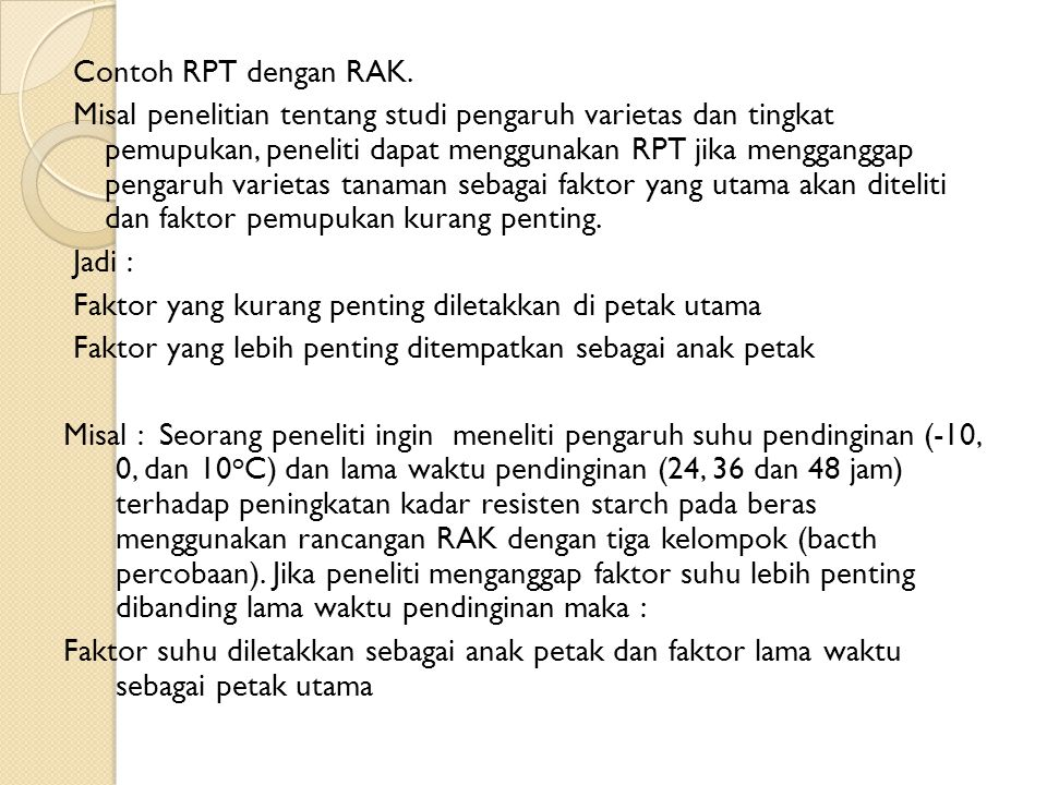 Contoh RPT dengan RAK.