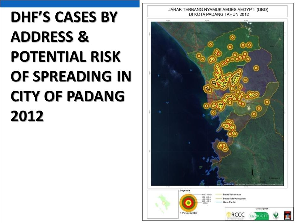DHF'S CASES BY ADDRESS & POTENTIAL RISK OF SPREADING IN CITY OF PADANG 2012