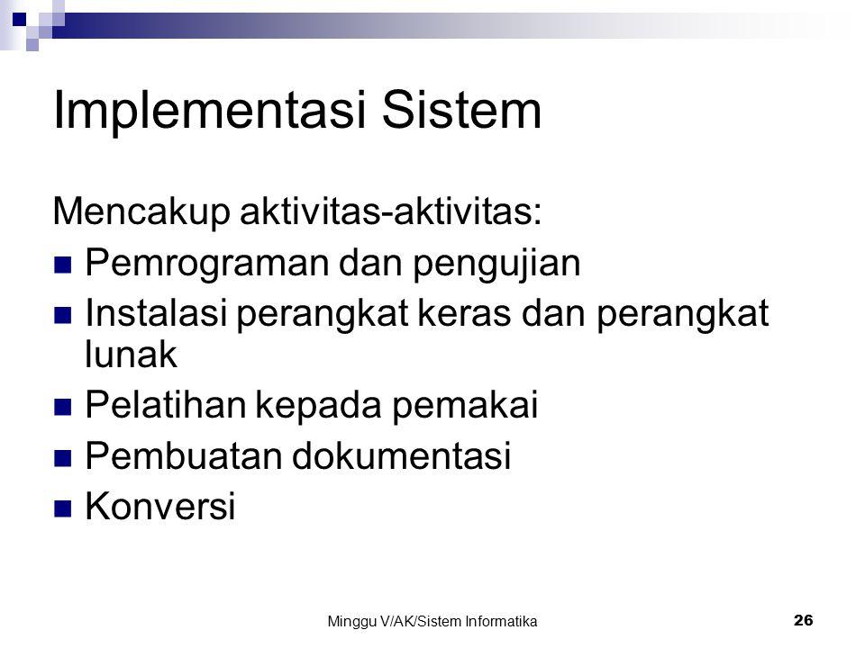Minggu V/AK/Sistem Informatika