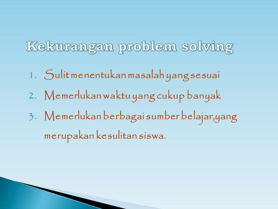 Kekurangan problem solving