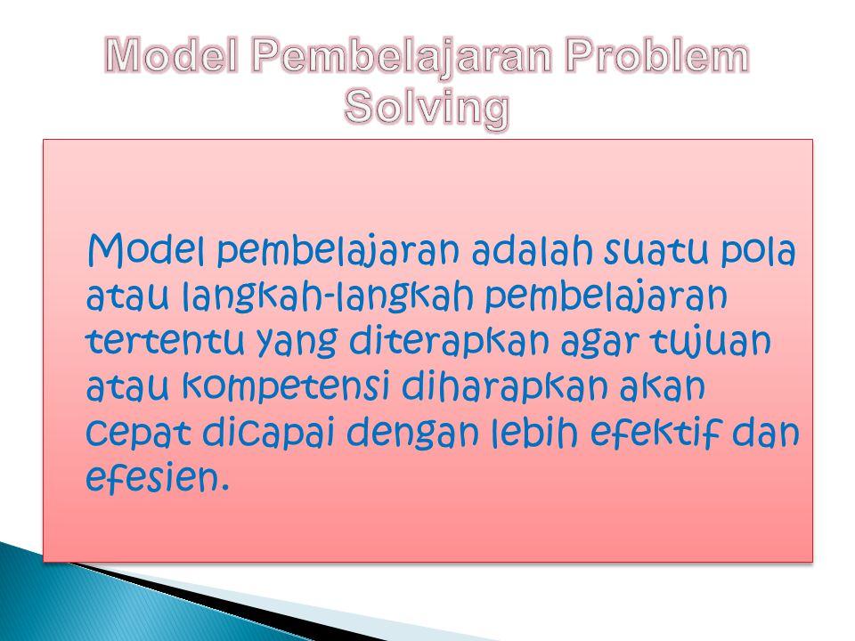 Model Pembelajaran Problem Solving