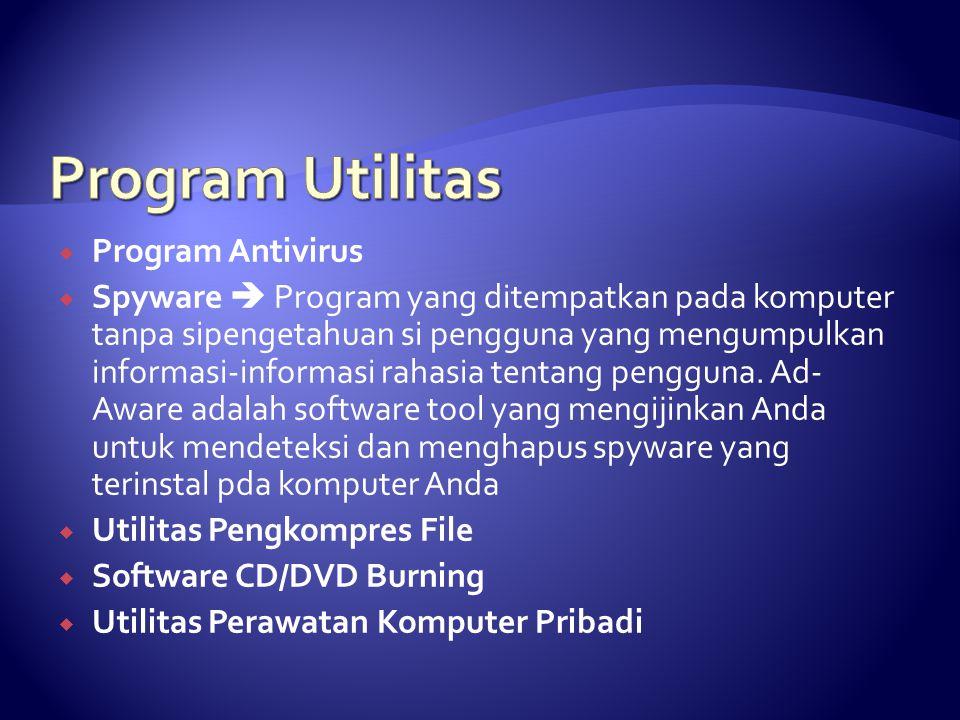 Program Utilitas Program Antivirus