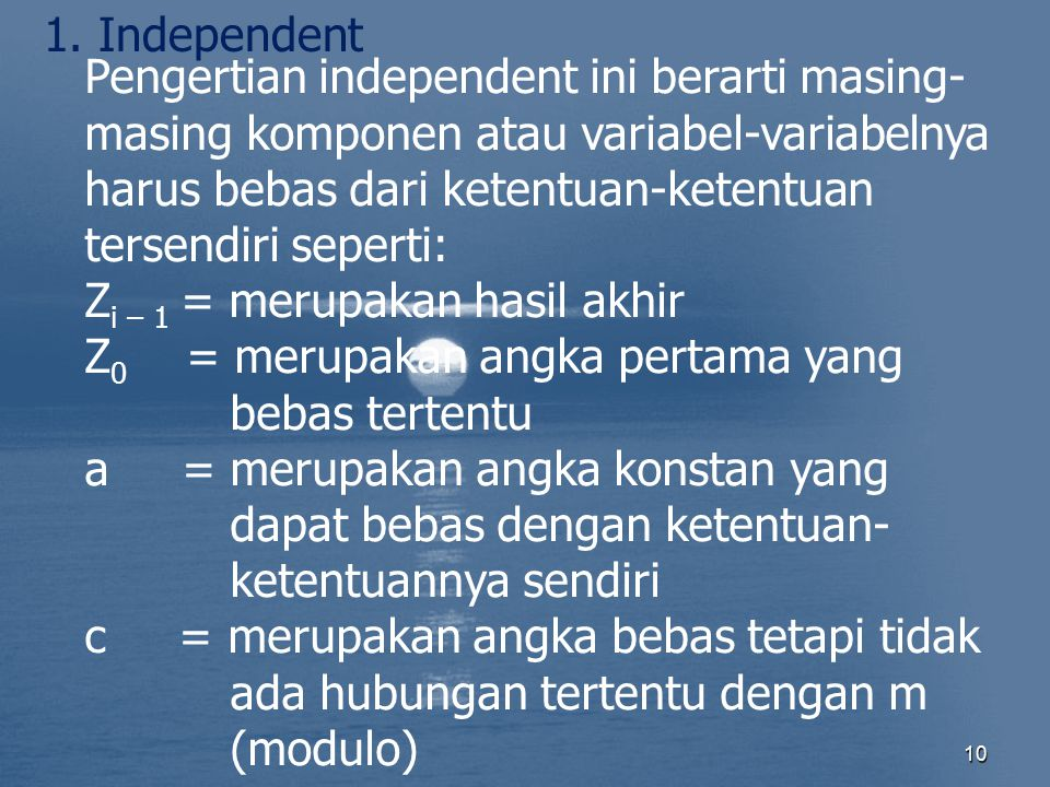 1. Independent