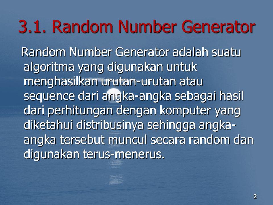 3.1. Random Number Generator