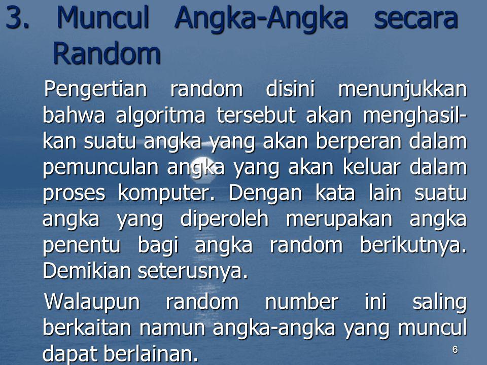 3. Muncul Angka-Angka secara Random
