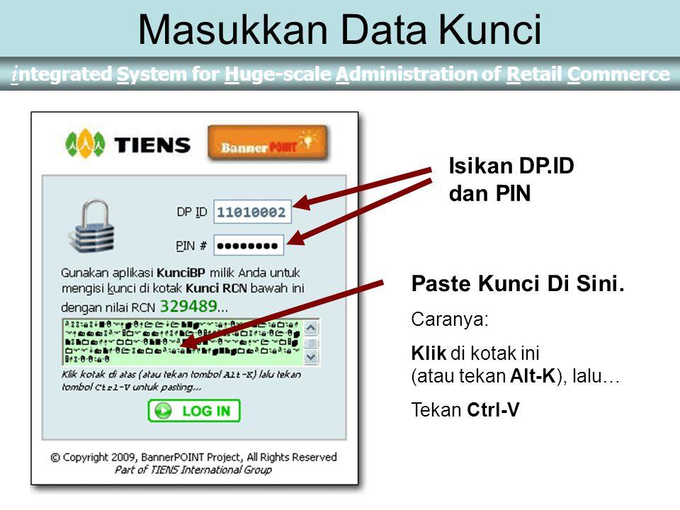 Masukkan Data Kunci Isikan DP.ID dan PIN Paste Kunci Di Sini. Caranya: