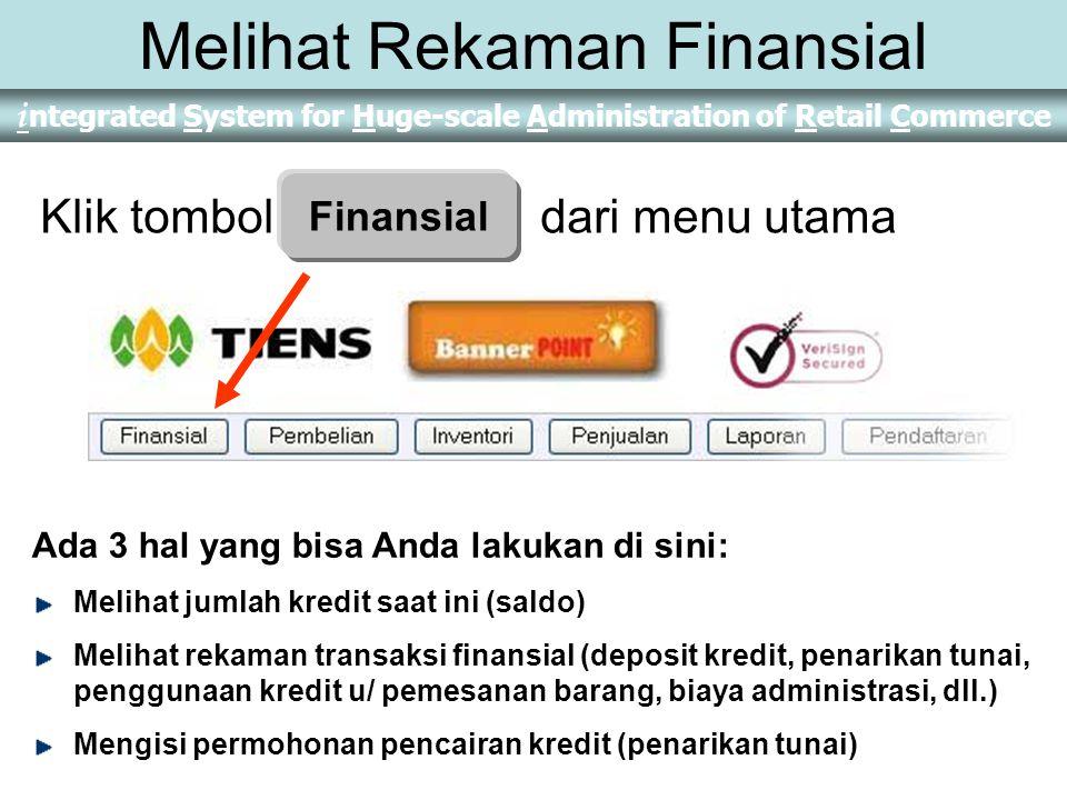 Melihat Rekaman Finansial
