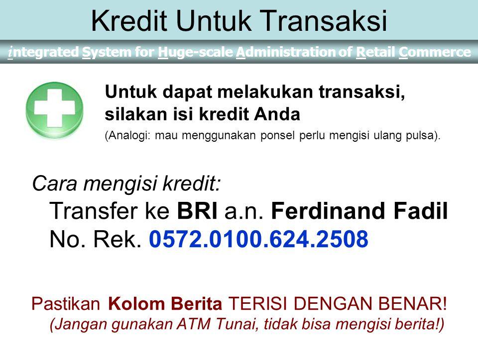 Kredit Untuk Transaksi