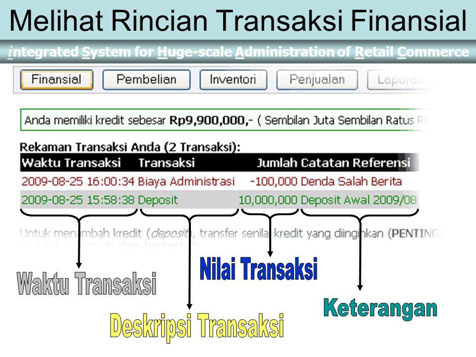 Melihat Rincian Transaksi Finansial