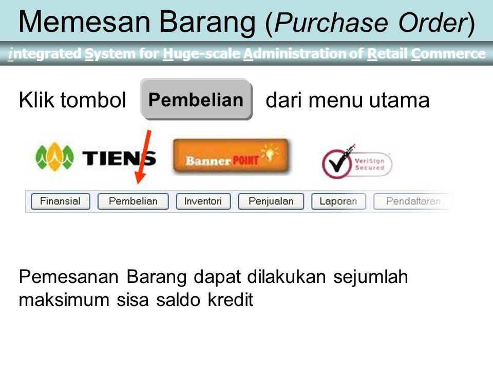 Memesan Barang (Purchase Order)