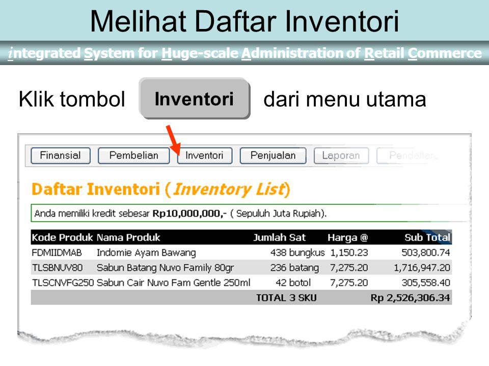 Melihat Daftar Inventori