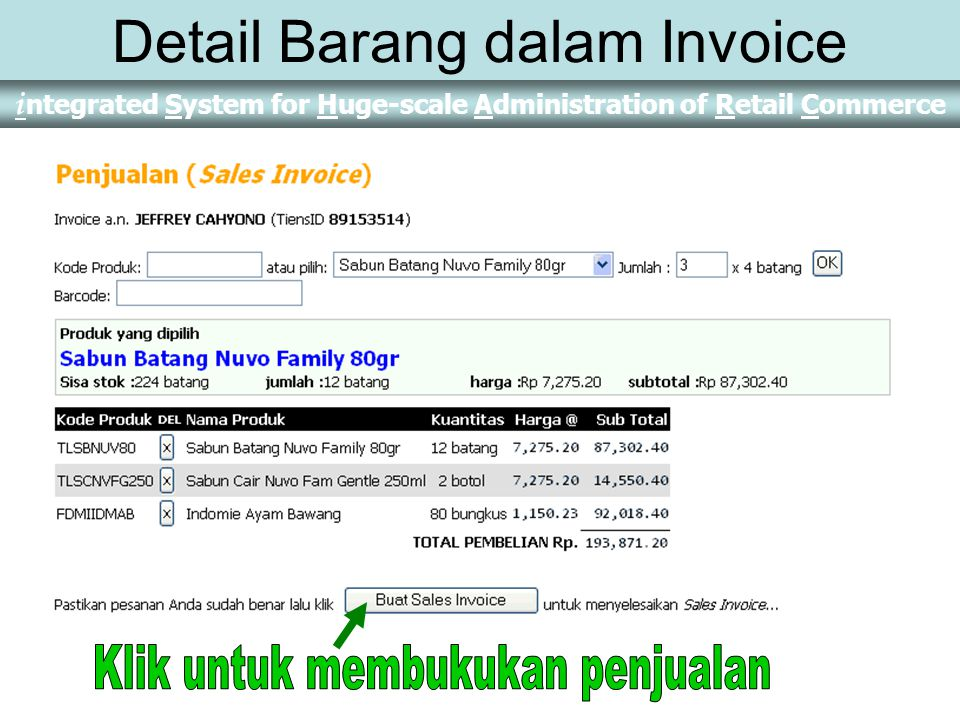 Detail Barang dalam Invoice