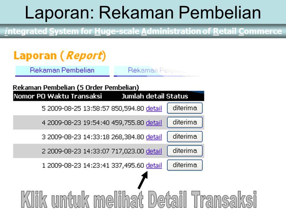 Laporan: Rekaman Pembelian