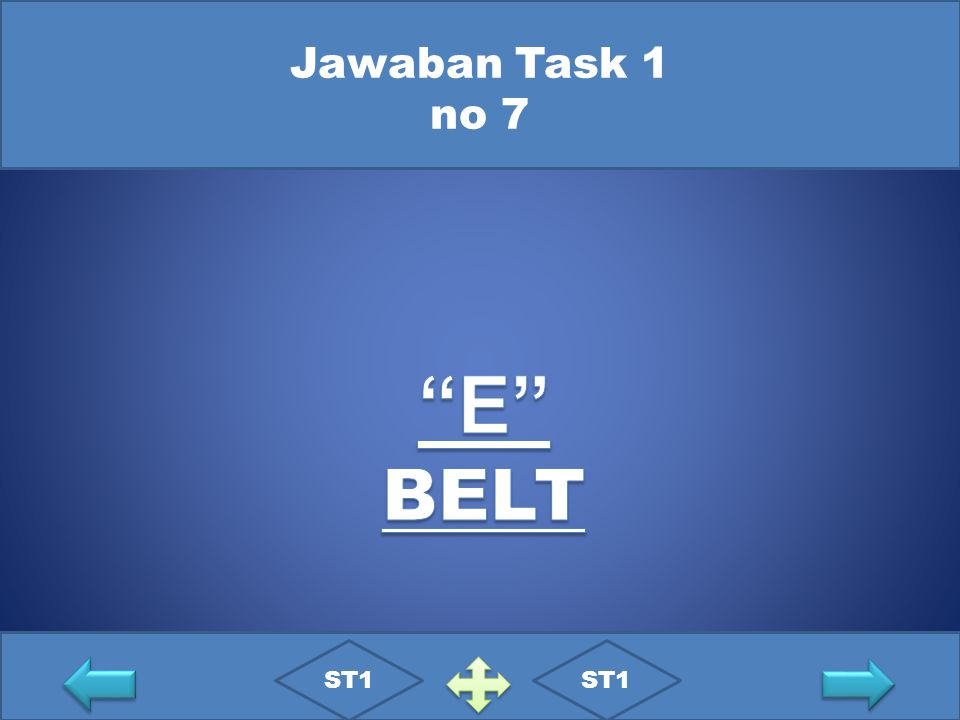 Jawaban Task 1 no 7 E BELT ST1 ST1