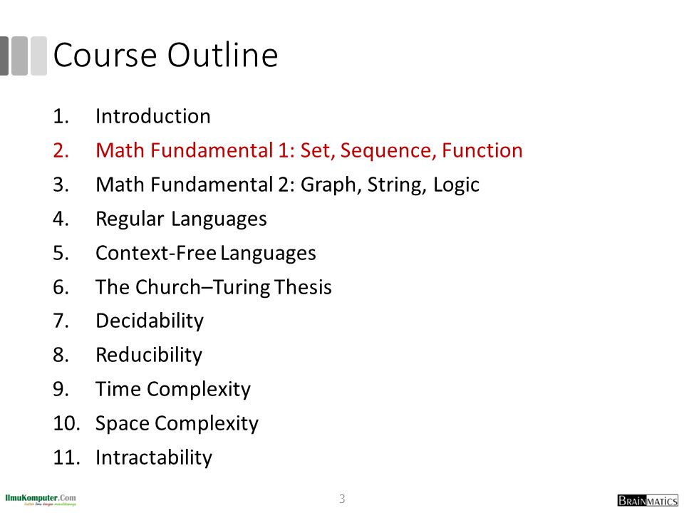 Course Outline Introduction