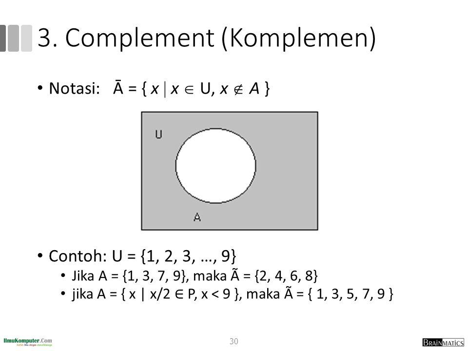 3. Complement (Komplemen)