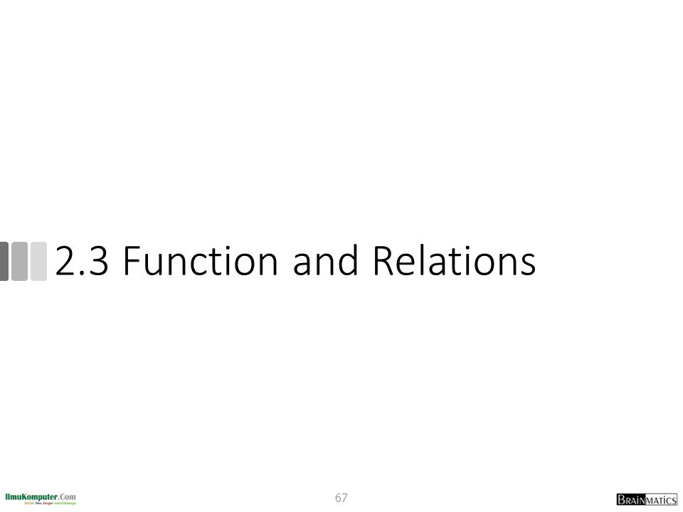 2.3 Function and Relations