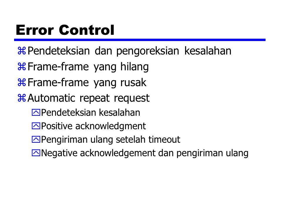 Error Control Pendeteksian dan pengoreksian kesalahan